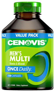 Cenovis Men's Multi Vitamins and Minerals Once Daily, capsules