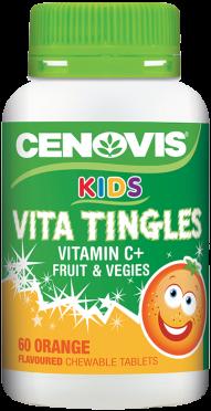 Cenovis Kids Vita Tingles Vitamin C+ Fruit and Vegies, chewable tablets