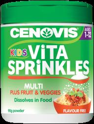 Cenovis Kids Vita Sprinkles Multi plus Fruit and Veggies, powder
