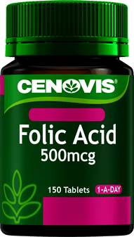 Cenovis Folic Acid 500mcg <br />150 Tablets