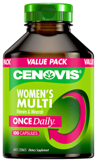 Cenovis Women's Multi Vitamins & Minerals Once Daily Capsules