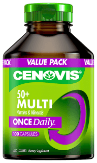 Cenovis 50+ Multi Vitamins and Minerals Once Daily, capsules
