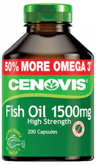 Cenovis Odourless Fish Oil Tablets for Joint Mobility