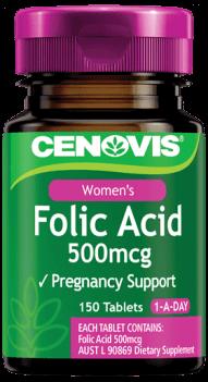 Cenovis Folic Acid 500mcg