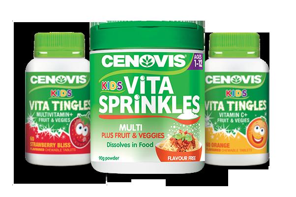 Cenovis Kids Health products group packshot