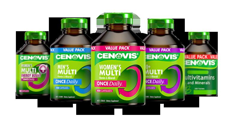 Cenovis multi vitamins products group packshot