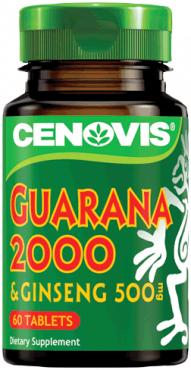 Cenovis Guarana 2000 & Ginseng 500mg Tablets