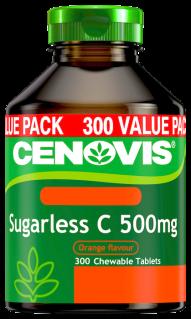 Cenovis Sugarless C 500mg <br /> Chewable Tablets