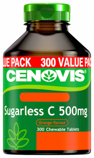 Cenovis Sugarless C 500mg <br />Vitamin C Chewable Tablets