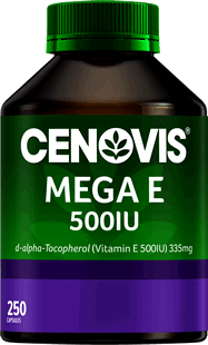 Cenovis Mega E 500IU<br />Vitamin E Capsules